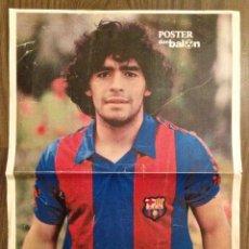 Coleccionismo deportivo: MARADONA POSTER DON BALÓN 82 ES FOTOCOPIA EN COLOR. BUEN ESTADO.. Lote 112184335