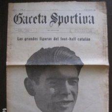 Coleccionismo deportivo: GACETA SPORTIVA-FIGURAS FUTBOL CATALAN-ESPAÑOL-KARLIN-BARCELONA ALCANTARA-1922- VER FOTOS-(V-13.399). Lote 112241959