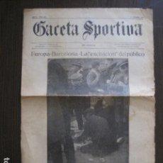 Coleccionismo deportivo: GACETA SPORTIVA- FUTBOL- EUROPA BARCELONA- CAMPO ESPAÑOL -1923- VER FOTOS-(V-13.400). Lote 112242687