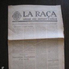 Coleccionismo deportivo: LA RAÇA-DEPORT CATALA- NUM 1 1922-ESPAÑOL- MANNHEIM-BARCELONA-M.T.K.-FUTBOL-VEURE FOTOS-(V-13.401). Lote 112243443