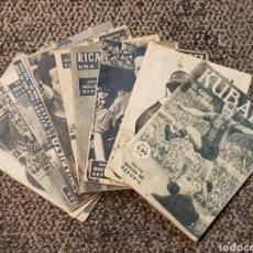 Coleccionismo deportivo: 11 REVISTAS IDOLOS DEL DEPORTE. FC BARCELONA KUBALA BASORA SUAREZ SAMITIER ZAMORA.... Lote 112245784