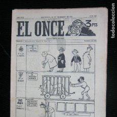 Coleccionismo deportivo: (F.1) REVISTA DEPORTIVA SATIRICA EL ONCE Nº 859 AÑO 1961. Lote 112762571