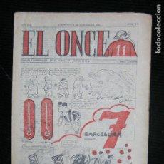 Coleccionismo deportivo: (F.1) REVISTA DEPORTIVA SATIRICA EL ONCE Nº 578 AÑO 1956. Lote 112763559