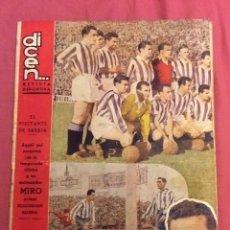 Coleccionismo deportivo: REVISTA DICEN N- 154. SEPTIEMBRE 1955. Lote 112927127