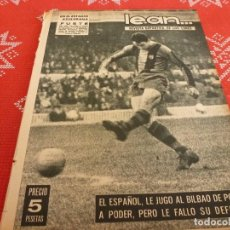 Coleccionismo deportivo: (ML)LEAN(27-1-64)BILBAO 5 ESPAÑOL 2,BARÇA 4 MURCIA 1,MAMO WOLDE GANA,EUROPA 1 BURGOS 0.. Lote 112981579