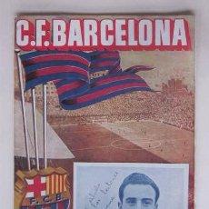 Coleccionismo deportivo: C.F. BARCELONA - PARTIDO LIGA: BARCELONA - RACING DE SANTANDER. Lote 113049091