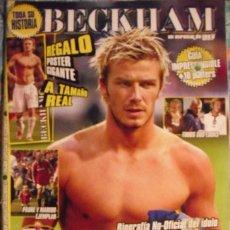 Coleccionismo deportivo: REVISTA ESPECIAL SOBRE DAVID BECHKAM (2003) - FÚTBOL. Lote 113872667