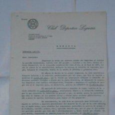 Coleccionismo deportivo: MEMORIA DE ASAMBLEA DE SOCIOS DEL CLUB DEPORTIVO LOGROÑES. TEMPORADA 1977/78. TDKR38. Lote 113892279