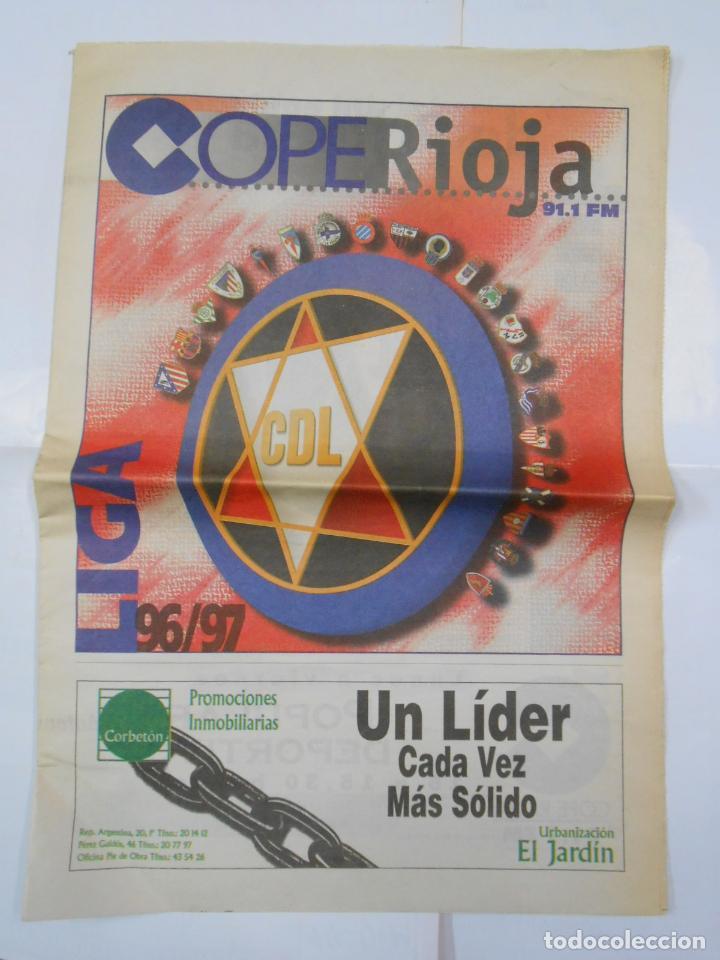 PERIODICO PRESENTACION DE LA TEMPORADA 1996/97. CLUB DEPORTIVO LOGROÑES. COPE RIOJA. TDKR38 (Coleccionismo Deportivo - Revistas y Periódicos - otros Fútbol)