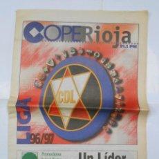 Coleccionismo deportivo: PERIODICO PRESENTACION DE LA TEMPORADA 1996/97. CLUB DEPORTIVO LOGROÑES. COPE RIOJA. TDKR38. Lote 113892643