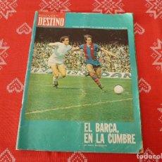 Coleccionismo deportivo: DESTINO(1974)EL F.C.BARCELONA EN LA CUMBRE CON JOHAN CRUYFF!!!-REPORTAJE COLOR BARÇA CAMPEÓN LIGA. Lote 113995307