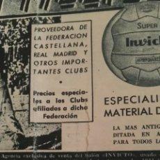 Coleccionismo deportivo: REVISTA OFICIAL REAL MADRID, JUNIO 1961, N°133, PORTADA MANUEL BUENO CABRAL. Lote 114350272