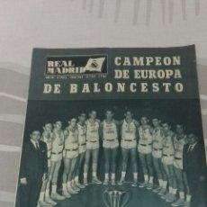 Coleccionismo deportivo: REVISTA OFICIAL REAL MADRID, JUNIO 1964, N°169, PORTADA CAMPEÓN DE EUROPA DE BALONCESTO. Lote 114383564