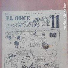 Coleccionismo deportivo: RARA REVISTA DEPORTIVA EL ONCE Nº 227 FUTBOL FINAL COPA 1949 CAMPEON VALENCIA 1 ATHLETIC BILBAO 0. Lote 114427635