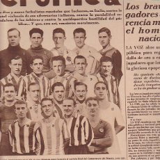 Coleccionismo deportivo: REVISTA CRONICA 10 JUNIO 1934. Lote 114445595