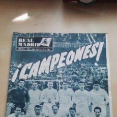 Coleccionismo deportivo: REVISTA OFICIAL REAL MADRID, ABRIL 1962, N°143, PORTADA ¡CAMPEONES!. Lote 114528296