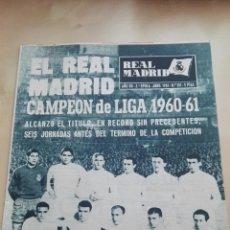 Coleccionismo deportivo: REVISTA OFICIAL REAL MADRID, ABRIL 1961, N°131, PORTADA EL REAL MADRID CAMPEÓN DE LIGA 1960-61. Lote 114533420