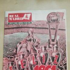Coleccionismo deportivo: REVISTA OFICIAL REAL MADRID, ENERO 1961, N°128, PORTADA FELIZ 1961. Lote 114542470