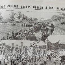 Coleccionismo deportivo: REVISTA RARISMA NOVEDADES 1912 ATHLETIC BILBAO REAL SOCIEDAD LEZO USURBIL SAN SEBASTIAN FUTBOL TOROS. Lote 114765967