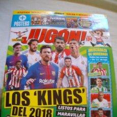 Coleccionismo deportivo: REVISTA JUGON Nº 134 MARZO 2018 POSTER CENTRAL COUTINHO. Lote 114875879