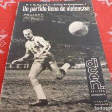 Collectionnisme sportif: DICEN(1963)EN SARRIÁ ESPAÑOL 2 RACING ESTRASBURGO 2.CON PIRIS GUARDAMETA DEL ESPAÑOL.. Lote 114904619