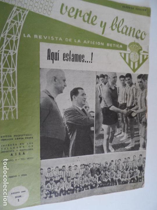 REVISTA VERDE Y BLANCO LA REVISTA DE LA AFICION BETICA REAL BETIS AÑOS 60 - Nº 1 AL 26 (Coleccionismo Deportivo - Revistas y Periódicos - otros Fútbol)