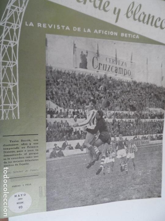 Coleccionismo deportivo: REVISTA VERDE Y BLANCO LA REVISTA DE LA AFICION BETICA REAL BETIS AÑOS 60 - Nº 1 AL 26 - Foto 10 - 114980175