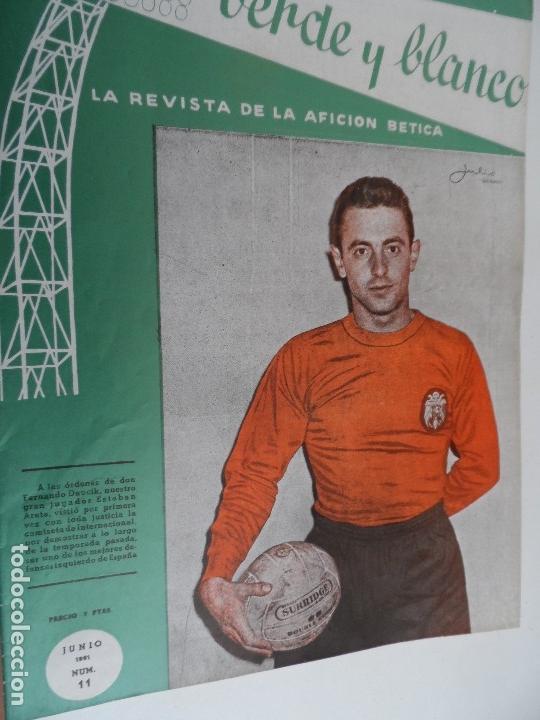 Coleccionismo deportivo: REVISTA VERDE Y BLANCO LA REVISTA DE LA AFICION BETICA REAL BETIS AÑOS 60 - Nº 1 AL 26 - Foto 11 - 114980175