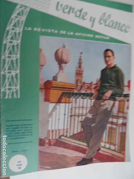 Coleccionismo deportivo: REVISTA VERDE Y BLANCO LA REVISTA DE LA AFICION BETICA REAL BETIS AÑOS 60 - Nº 1 AL 26 - Foto 14 - 114980175