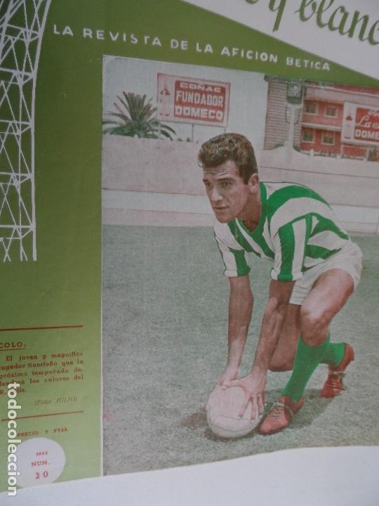 Coleccionismo deportivo: REVISTA VERDE Y BLANCO LA REVISTA DE LA AFICION BETICA REAL BETIS AÑOS 60 - Nº 1 AL 26 - Foto 19 - 114980175