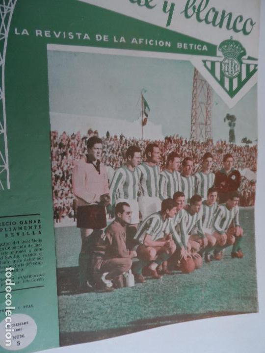 Coleccionismo deportivo: REVISTA VERDE Y BLANCO LA REVISTA DE LA AFICION BETICA REAL BETIS AÑOS 60 - Nº 1 AL 26 - Foto 5 - 114980175
