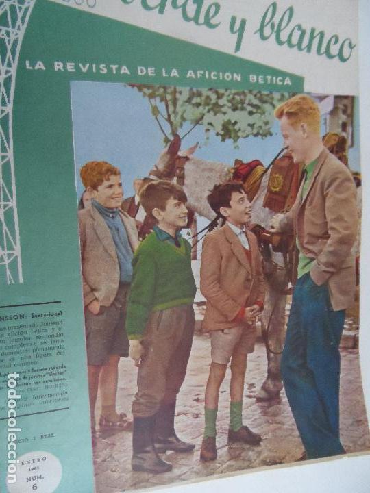 Coleccionismo deportivo: REVISTA VERDE Y BLANCO LA REVISTA DE LA AFICION BETICA REAL BETIS AÑOS 60 - Nº 1 AL 26 - Foto 6 - 114980175