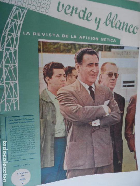 Coleccionismo deportivo: REVISTA VERDE Y BLANCO LA REVISTA DE LA AFICION BETICA REAL BETIS AÑOS 60 - Nº 1 AL 26 - Foto 7 - 114980175