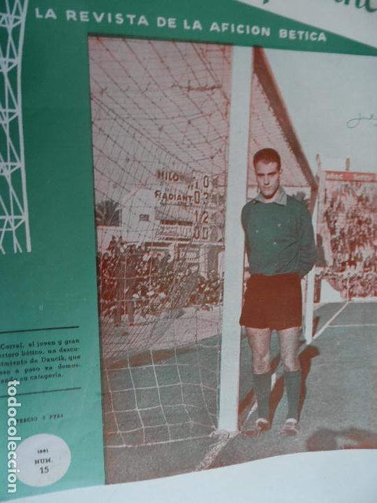 Coleccionismo deportivo: REVISTA VERDE Y BLANCO LA REVISTA DE LA AFICION BETICA REAL BETIS AÑOS 60 - Nº 1 AL 26 - Foto 15 - 114980175