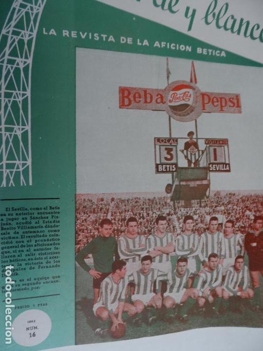 Coleccionismo deportivo: REVISTA VERDE Y BLANCO LA REVISTA DE LA AFICION BETICA REAL BETIS AÑOS 60 - Nº 1 AL 26 - Foto 16 - 114980175