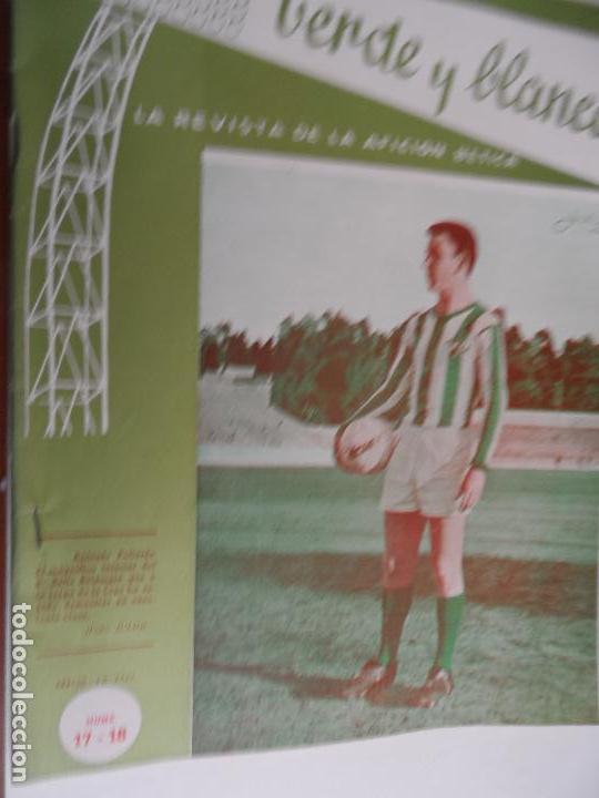 Coleccionismo deportivo: REVISTA VERDE Y BLANCO LA REVISTA DE LA AFICION BETICA REAL BETIS AÑOS 60 - Nº 1 AL 26 - Foto 17 - 114980175