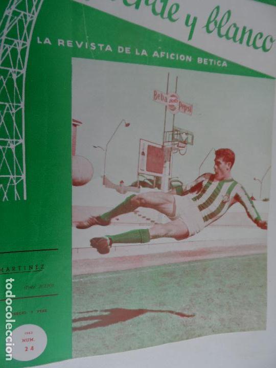 Coleccionismo deportivo: REVISTA VERDE Y BLANCO LA REVISTA DE LA AFICION BETICA REAL BETIS AÑOS 60 - Nº 1 AL 26 - Foto 23 - 114980175