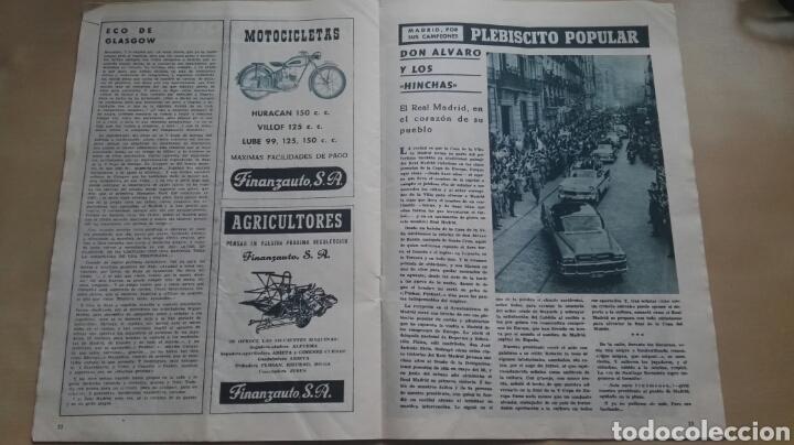Coleccionismo deportivo: Revista Oficial Real Madrid, Junio 1960, N°120, Portada El Real Madrid Campeón De Europa Por Quinta - Foto 3 - 114989790