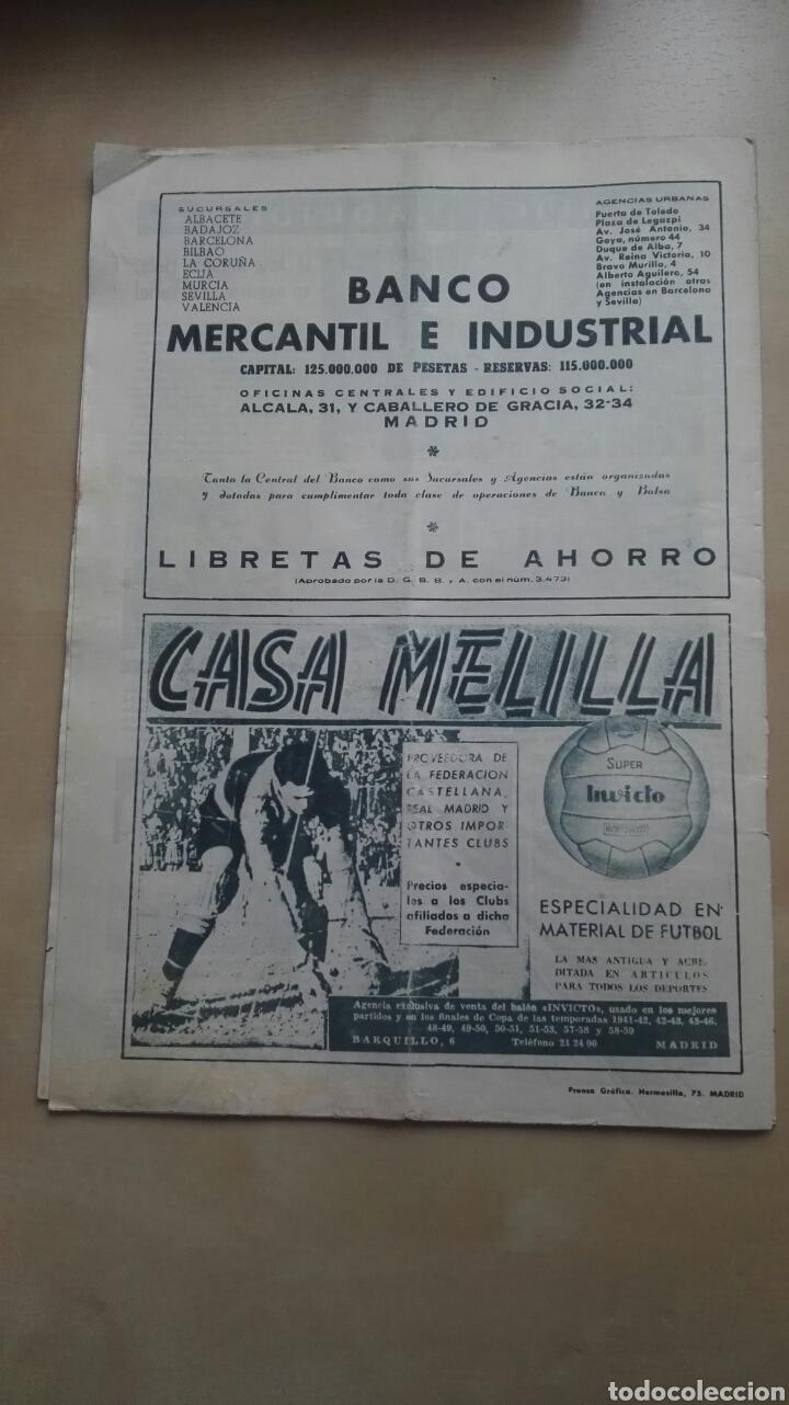 Coleccionismo deportivo: Revista Oficial Real Madrid, Junio 1960, N°120, Portada El Real Madrid Campeón De Europa Por Quinta - Foto 4 - 114989790