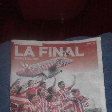 Coleccionismo deportivo: ATHLETIC LA FINAL ESPECIAL PERIODICO EL CORREO NOS VAMOS A BARCELONA MAYO 2015. Lote 115128535