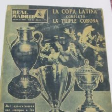 Coleccionismo deportivo: REVISTA OFICIAL REAL MADRID - NUM 84 (JULIO 1957) - LA TRIPLE CORONA. Lote 115212267