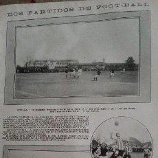 Coleccionismo deportivo: HOJA SUELTA PARTIDO FUTBOL SEVILLA BETIS 1913 Y REAL SOCIEDAD SAN SEBASTIAN SPORTING IRUN PERFECTA. Lote 150835382