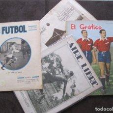 Coleccionismo deportivo: CUATRO REVISTAS, 2 AIRE LIBRE 1 FUTBOL Y EL GRAFICO VER DESCRIPCION Y FOTOS. Lote 116252183