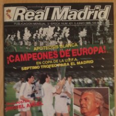 Coleccionismo deportivo: REVISTA REAL MADRID.JUNIO 1985.FINAL COPA UEFA. R.MADRID - VIDEOTON. Lote 116495043