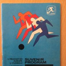 Coleccionismo deportivo: EUROCOPA 1976. PROGRAMA OFICIAL. Lote 116581398