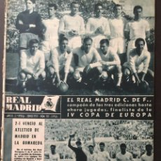 Coleccionismo deportivo: REVISTA REAL MADRID.SEMIFINAL COPA EUROPE.DESEMPATE.R.MADRID,2-ATHLETICO MADRID,1.JUNIO 1959. Lote 116605311