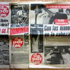 Coleccionismo deportivo: PERIODICOS DEPORTES 1975 1976 REAL ZARAGOZA PERICO FERNANDEZ QUINI CRUYFF. Lote 117371659