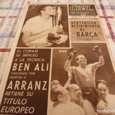 Coleccionismo deportivo: DICEN(23-9-66)RECIBIMIENTO AL BARÇA CAMPEÓN COPA FERIAS!!!PUJOL(BARÇA)BEN ALÍ CAMPEÓN EUROPA.GENTO. Lote 117419859