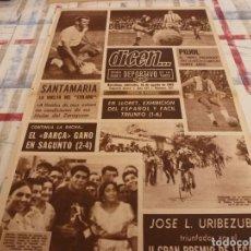 Coleccionismo deportivo: DICEN(16-8-67)SAGUNTO 2 BARÇA 4,SANTAMARIA(ZARAGOZA)PUJOL(BARÇA)CUMPLE 20 AÑOS,LLORET 1 ESPAÑOL 6. Lote 127176742