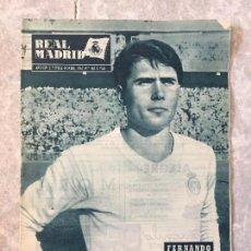 Coleccionismo deportivo: ANTIGUA REVISTA REAL MADRID DE FUTBOL FERNANDO RODRIGUEZ SERENA JUGADOR NOVIEMBRE 1963 Nº 162. Lote 118153867